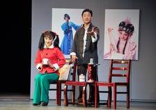 Ακούστε το παλτό ιστορία-Jiangxi OperaBlue μολύβδου Στοκ Εικόνες