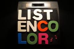 Ακούστε χρώμα στοκ φωτογραφίες