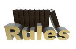 Ακολουθήστε την έννοια κανόνων Στοκ Εικόνα