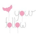 Ακολουθήστε την καρδιά σας με τα μπαλόνια Στοκ Εικόνα