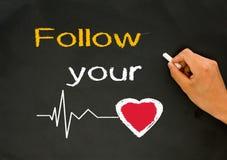 ακολουθήστε την καρδιά &s Στοκ Εικόνα