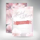Ακολουθία καρτών γαμήλιας πρόσκλησης με τα πρότυπα λουλουδιών μαργαριτών Στοκ Φωτογραφίες