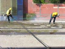 ακραία εργασία παραθύρων πλύσης Στοκ Φωτογραφίες