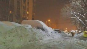 Ακραία ισχυρή χιονόπτωση της Ρουμανίας Στοκ εικόνα με δικαίωμα ελεύθερης χρήσης