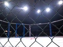 Ακραία μικτά αθλητισμός πρωταθλήματα MMA MAXMIX ανταγωνισμού πολεμικών τεχνών Οκτάγωνο δαχτυλίδι για τις πάλες στοκ φωτογραφία