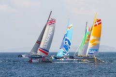 ακραία σειρά ναυσιπλοΐα&sig Στοκ Εικόνες