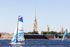 ακραία σειρά ναυσιπλοΐα&sig Στοκ Εικόνα
