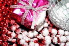 Ακραίες στενές επάνω διακοσμήσεις Χριστουγέννων στοκ φωτογραφία