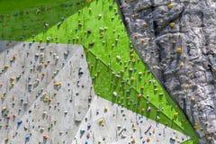 Ακραίος αθλητισμός, τοίχος αναρρίχησης βράχου στοκ εικόνες