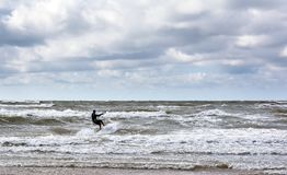 Ακραίος αθλητισμός Kitesurfing στοκ φωτογραφία