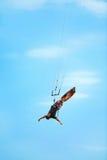 ακραίος αθλητισμός Ψυχαγωγικός αθλητισμός νερού Kiteboarding, Kitesurf Στοκ Φωτογραφία