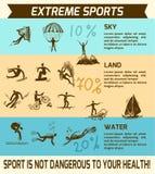 Ακραίος αθλητισμός infographic απεικόνιση αποθεμάτων