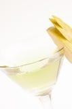 Ακραίος στενός επάνω κοκτέιλ της Apple Martini Στοκ φωτογραφία με δικαίωμα ελεύθερης χρήσης