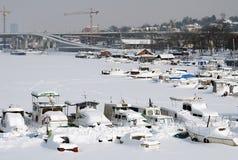 Ακραίος χειμώνας στην Ευρώπη Στοκ εικόνα με δικαίωμα ελεύθερης χρήσης