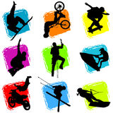 ακραίο αθλητικό διάνυσμα ελεύθερη απεικόνιση δικαιώματος