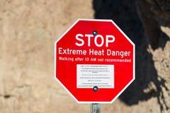 Ακραίο σημάδι κινδύνου θερμότητας στοκ εικόνα με δικαίωμα ελεύθερης χρήσης