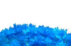 Ακραίο στενό επάνω μπλε crystall της στυπτηρίας Στοκ Φωτογραφία