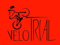 Ακραίο bicyclist διανυσματική απεικόνιση