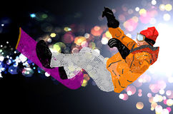 Ακραίο Snowboarding. Στοκ εικόνες με δικαίωμα ελεύθερης χρήσης
