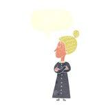 ακριβής βικτοριανός δάσκαλος κινούμενων σχεδίων με τη λεκτική φυσαλίδα Στοκ εικόνα με δικαίωμα ελεύθερης χρήσης