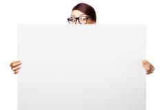 Ακριβής γυναίκα στα μεγάλα γυαλιά στοκ εικόνες με δικαίωμα ελεύθερης χρήσης