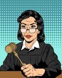Ακριβής δικαστής με ένα σφυρί Στοκ φωτογραφίες με δικαίωμα ελεύθερης χρήσης