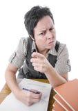 Ακριβής υπόδειξη δασκάλων στοκ φωτογραφία