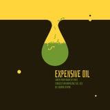 Ακριβή διανυσματική απεικόνιση πετρελαίου Στοκ Εικόνες