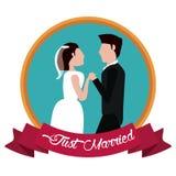 ακριβώς ετικέτα χεριών εκμετάλλευσης παντρεμένων ζευγαριών απεικόνιση αποθεμάτων