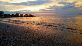 ακριβώς ηλιοβασίλεμα Στοκ φωτογραφίες με δικαίωμα ελεύθερης χρήσης