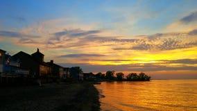 ακριβώς ηλιοβασίλεμα Στοκ Εικόνα