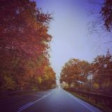 Ακριβώς ο δρόμος και η φύση στη Γερμανία Στοκ Φωτογραφίες