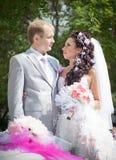 Ακριβώς παντρεμένος στην ημέρα τους το γάμο Στοκ Εικόνα