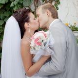 Ακριβώς παντρεμένος στην ημέρα τους το γάμο Στοκ Φωτογραφία