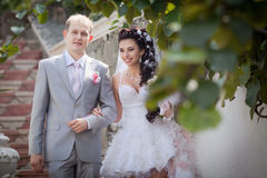 Ακριβώς παντρεμένος στην ημέρα τους το γάμο Στοκ Εικόνες