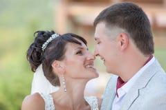 Ακριβώς παντρεμένος στην ημέρα του γάμου Στοκ Εικόνες