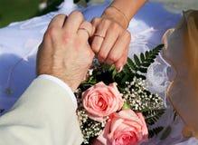 ακριβώς παντρεμένος Στοκ φωτογραφία με δικαίωμα ελεύθερης χρήσης