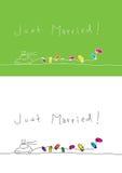 ακριβώς παντρεμένος Στοκ Φωτογραφία