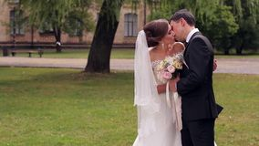 Ακριβώς παντρεμένο ευγενές φιλί απόθεμα βίντεο