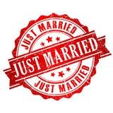 Ακριβώς παντρεμένο διανυσματικό γραμματόσημο Στοκ εικόνα με δικαίωμα ελεύθερης χρήσης