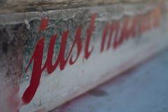 Ακριβώς παντρεμένο Grafiti Στοκ Φωτογραφία