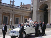 ακροατήριο παπικό Βατικανό Στοκ Εικόνες