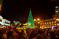 Ακροατήριο σε ένα γεγονός Χριστουγέννων στη Μαδρίτη Στοκ φωτογραφία με δικαίωμα ελεύθερης χρήσης