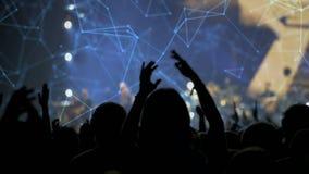 Ακροατήριο σε μια συναυλία απόθεμα βίντεο