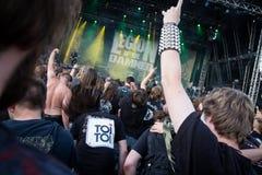 Ακροατήριο συναυλίας βράχου στοκ φωτογραφία με δικαίωμα ελεύθερης χρήσης
