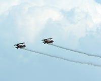ακροβατική επίδειξη αεροπλάνων Στοκ φωτογραφίες με δικαίωμα ελεύθερης χρήσης