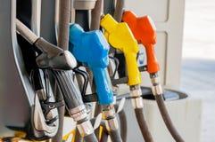 Ακροφύσια αντλιών αερίου Στοκ φωτογραφία με δικαίωμα ελεύθερης χρήσης