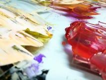 Ακρυλικά χρώματα Στοκ Εικόνες