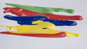 Ακρυλικές γραμμές χρωμάτων Στοκ εικόνες με δικαίωμα ελεύθερης χρήσης