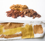 ακρυλική καφετιά χρωστική ουσία μαργαριταριών χρώματος χρυσή στοκ εικόνα